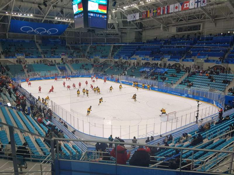 Seating view for Gangneung Ice Hockey Centre Section 226 Row D Seat 6