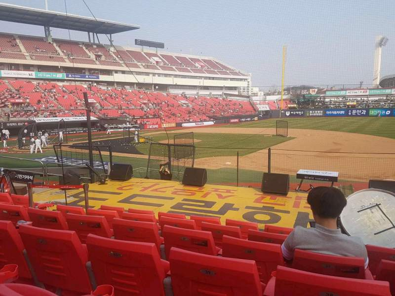 Seating view for KT Wiz Park Section 109 Row 6 Seat 60