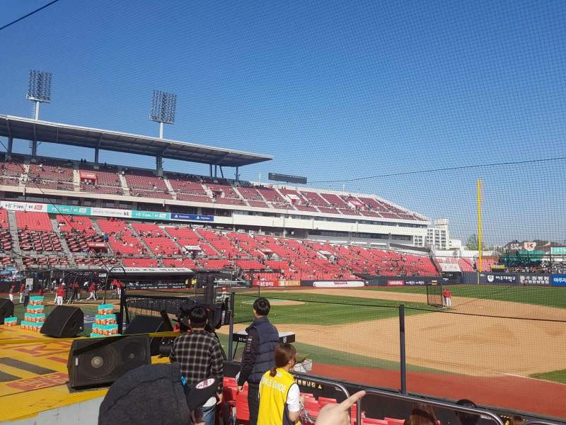 Seating view for KT Wiz Park Section 108 Row 5 Seat 55