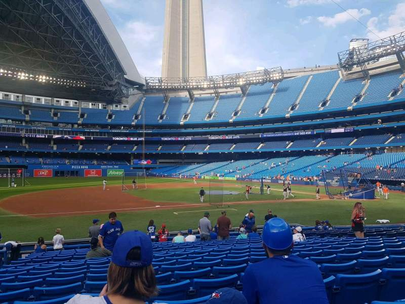 Seating view for Rogers Centre Section 128R Row 18 Seat 5