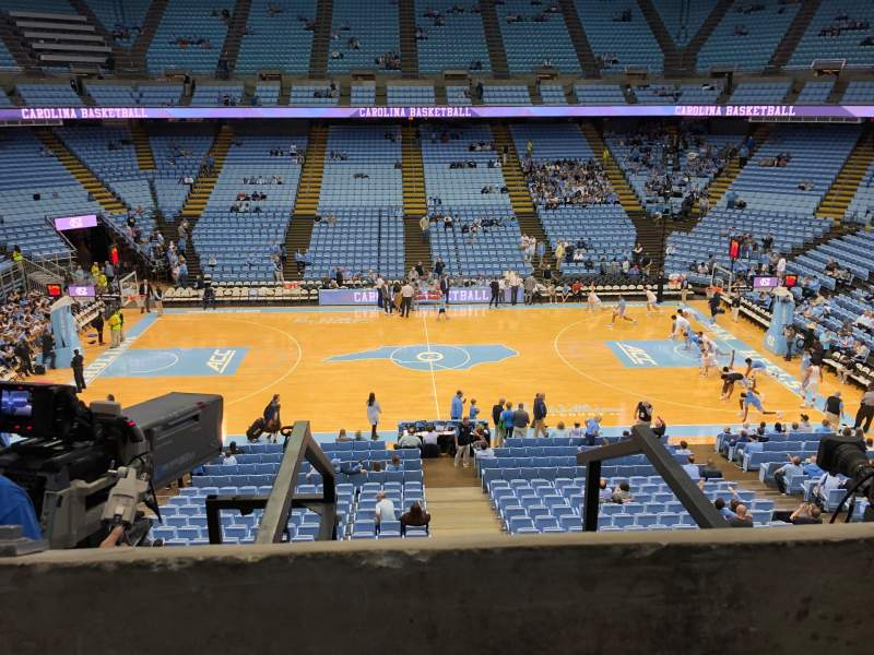 Seating view for Dean E. Smith Center Section 225 Row A  Seat 10