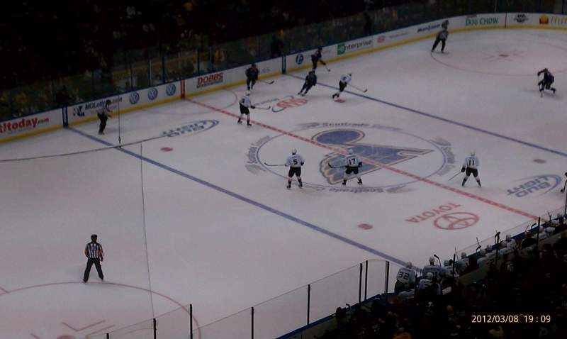 Seating view for Scottrade Center Section 307 Row h Seat 6