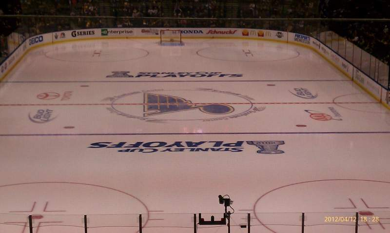 Seating view for Scottrade Center Section 123 Row gg Seat 3