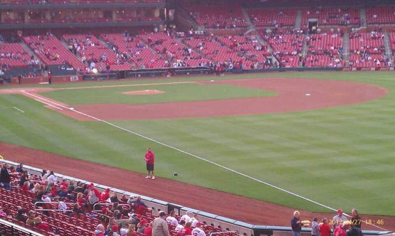 Seating view for Busch Stadium Section 132 Row 23 Seat 11