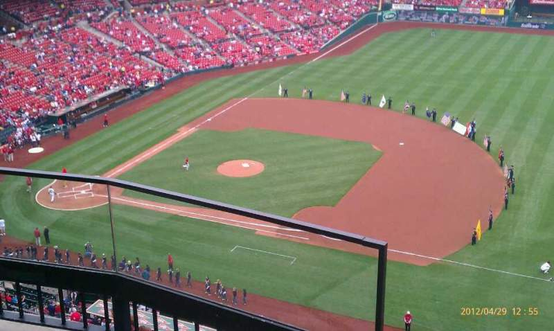 Seating view for Busch Stadium Section 440 Row 3 Seat 1