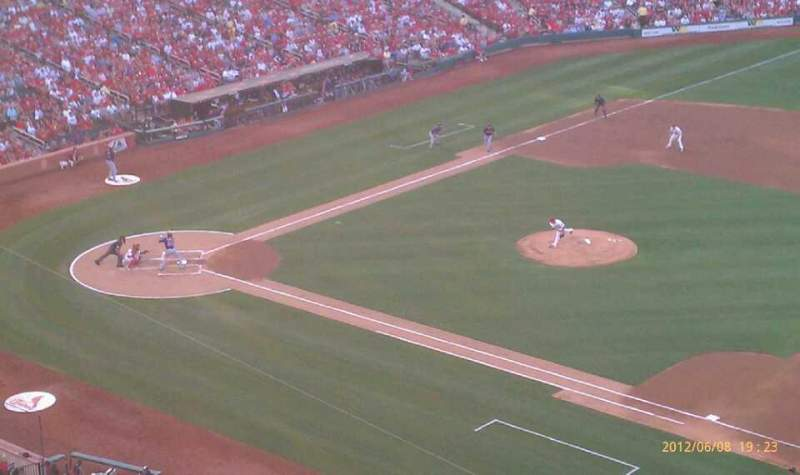 Seating view for Busch Stadium Section 340 Row 3 Seat 15