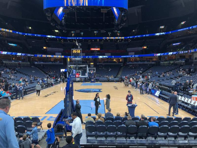Seating view for FedEx Forum Section 101 Row E Seat 11