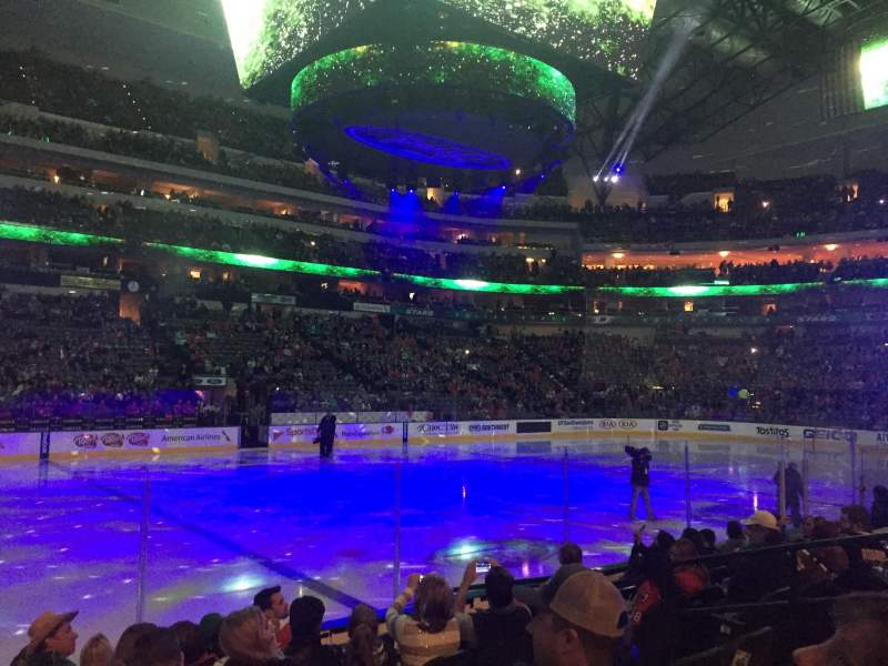 Seating view for American Airlines Center Section 108 Row H Seat 7