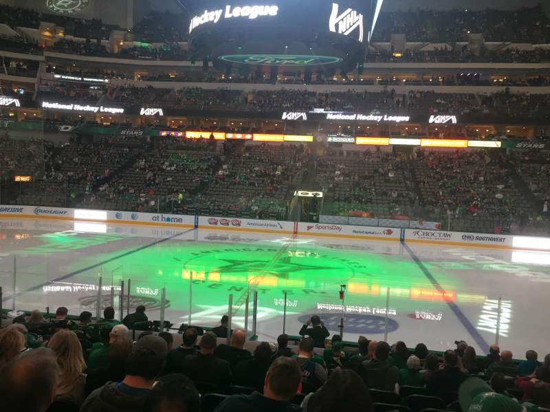Seating view for American Airlines Center Section 106 Row O Seat 11