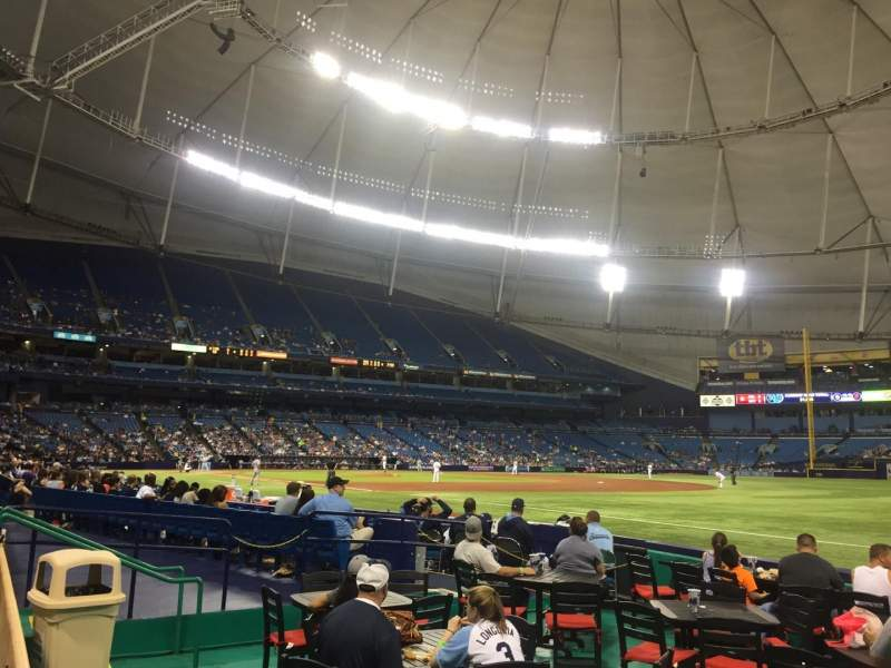 Seating view for Tropicana Field Section 130 Row G Seat 17