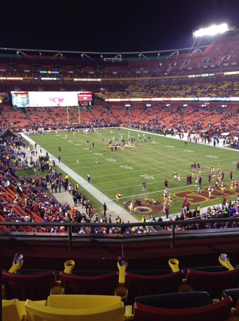 Seating view for FedEx Field Section 314 Row 4 Seat 20