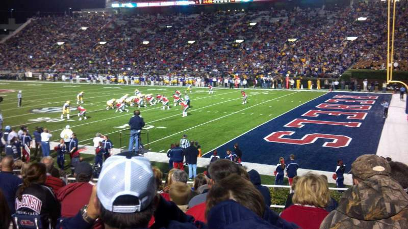 Seating view for Vaught-Hemingway Stadium  Section A Row 16 Seat 14