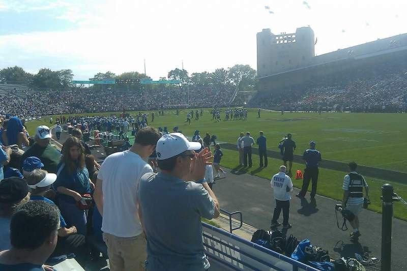 Seating view for Ryan Field Section 103 Row 1 Seat 8
