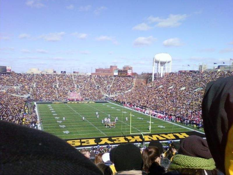 Seating view for Kinnick Stadium  Section 218