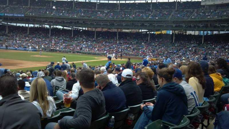 Seating view for Wrigley Field Section 107 Row 6 Seat 9