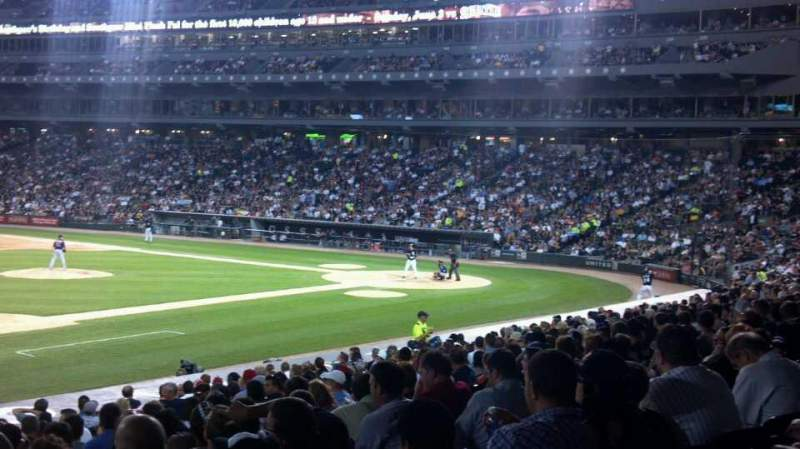 Seating view for Guaranteed Rate Field Section 144 Row 24 Seat 4