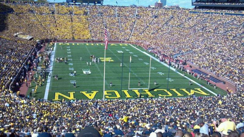 Seating view for Michigan Stadium Section 14 Row 94 Seat 39