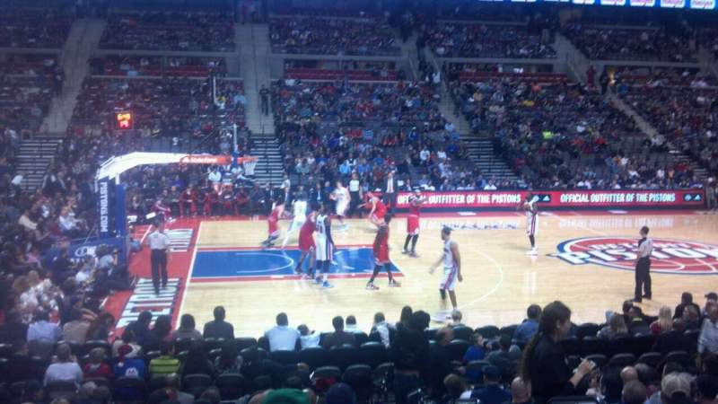 Seating view for The Palace of Auburn Hills Section 101 Row E Seat 3