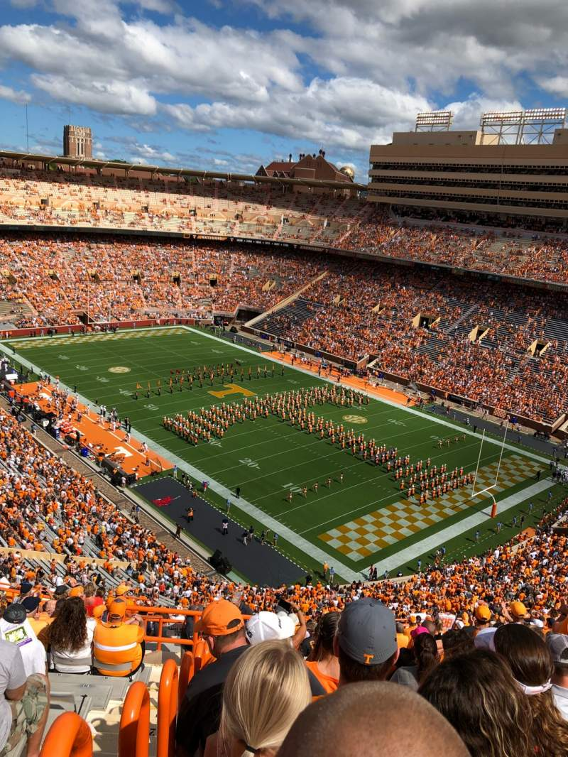 Seating view for Neyland Stadium Section PP Row 27 Seat 2