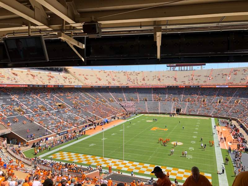 Seating view for Neyland Stadium Section Y7 Row 51 Seat 3
