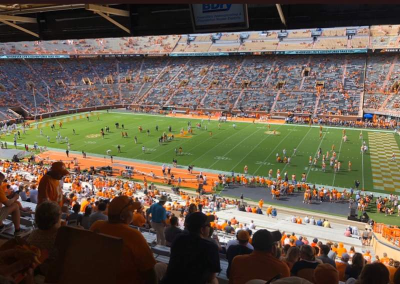 Seating view for Neyland Stadium Section A Row 60ish