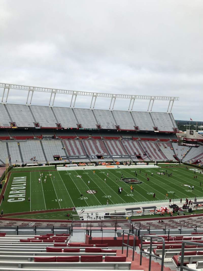 Seating view for Williams-Brice Stadium Section 302 Row 20 Seat 1