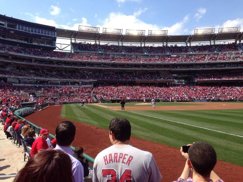 Seating view for Nationals Park Section 135 Row D Seat 6