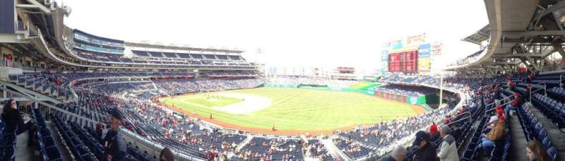 Seating view for Nationals Park Section 225 Row F Seat 18