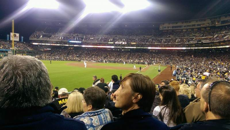 Seating view for PNC Park Section 131 Row K Seat 24