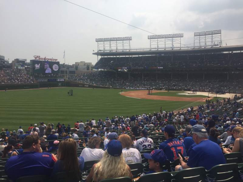 Seating view for Wrigley Field Section 203 Row 12 Seat 3