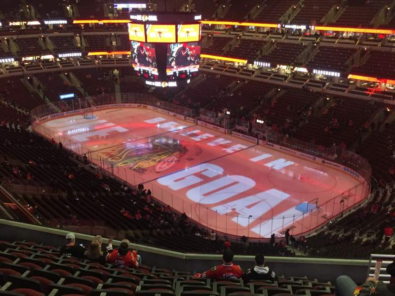 Seating view for United Center Section 313 Row 11 Seat 8