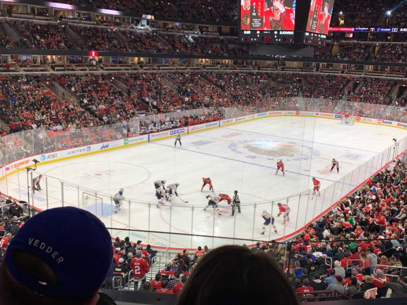 Seating view for United Center Section 223 Row 2 Seat 7