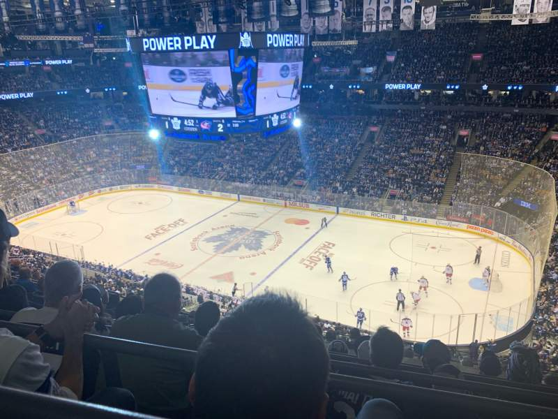 Seating view for Scotiabank Arena Section 319 Row 10 Seat 17