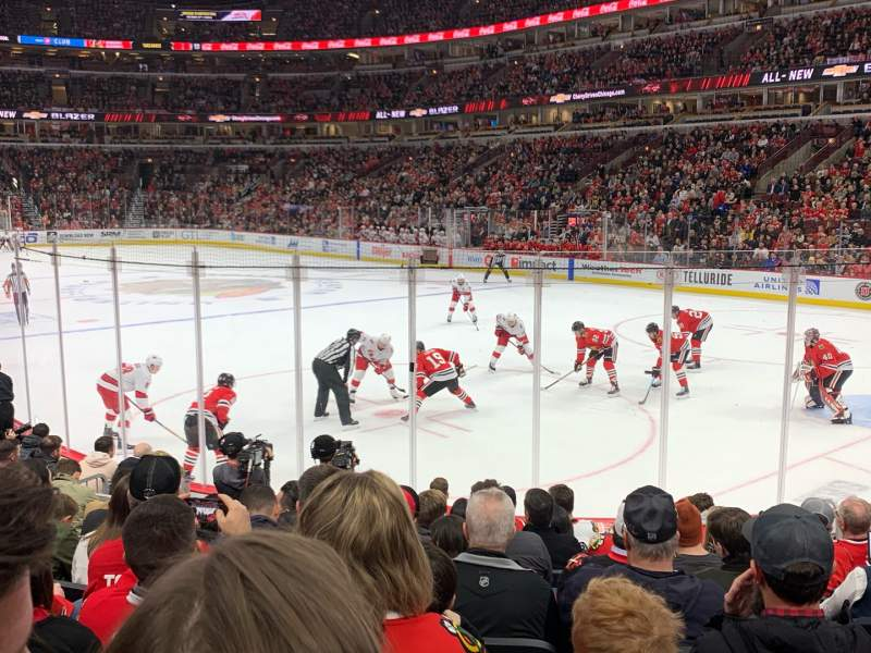 Seating view for United Center Section 108 Row 10 Seat 8