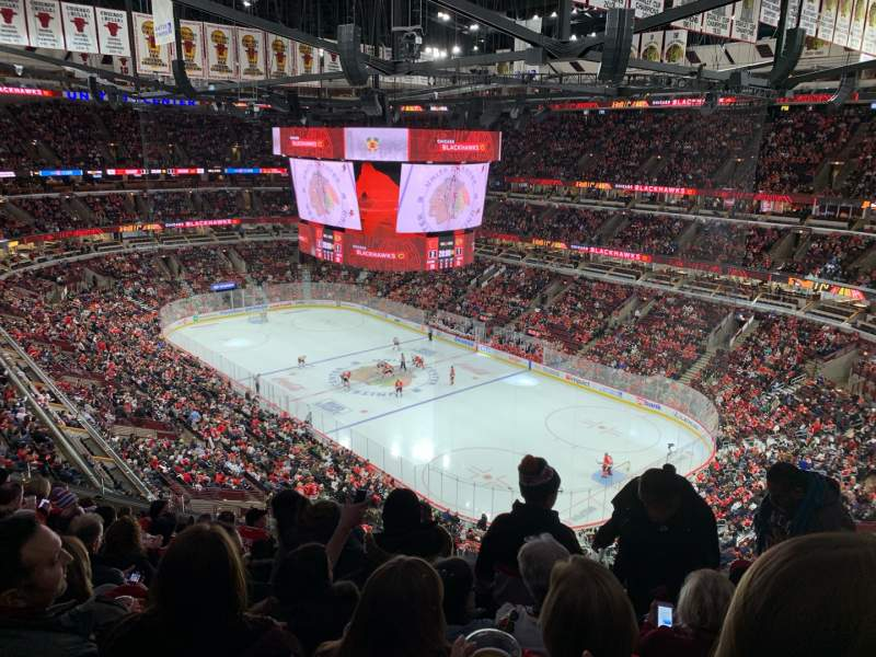Seating view for United Center Section 313 Row 9 Seat 5