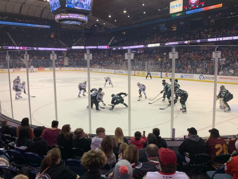 Seating view for Allstate Arena Section 108 Row D Seat 3