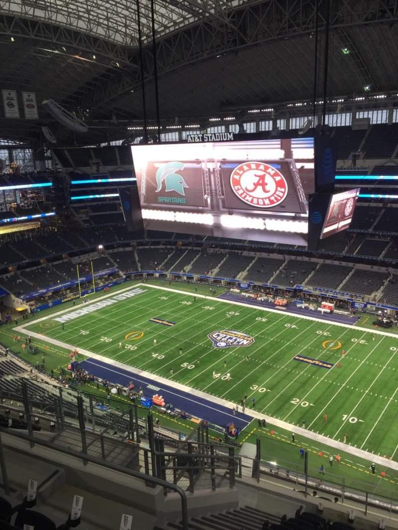 Seating view for AT&T Stadium Section 438 Row 17 Seat 15