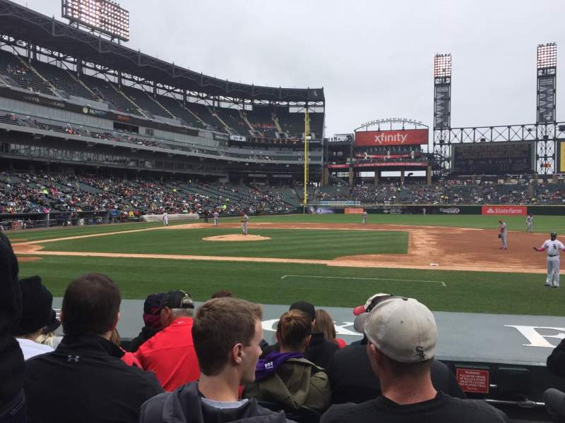 Seating view for Guaranteed Rate Field Section 123 Row 5 Seat 1