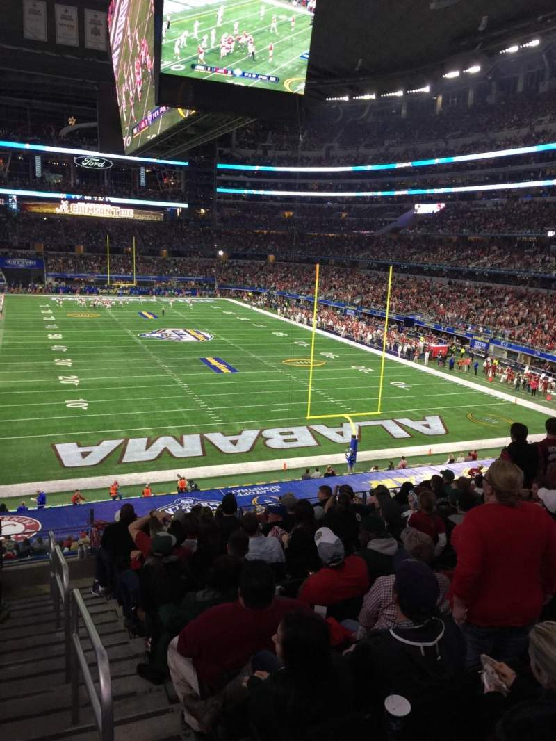 Seating view for AT&T Stadium Section 124 Row 6 Seat 1