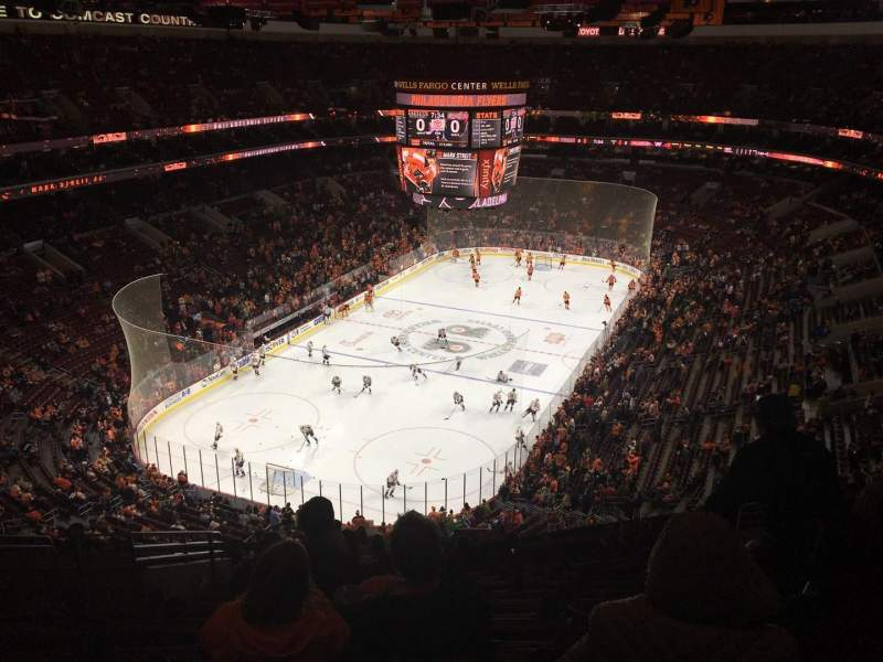 Seating view for Wells Fargo Center Section 209 Row 13 Seat 6