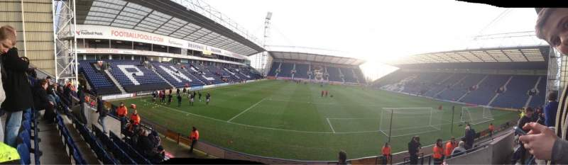 Seating view for Deepdale Section Bill Shankly Kop Block P Row 12 Seat 115