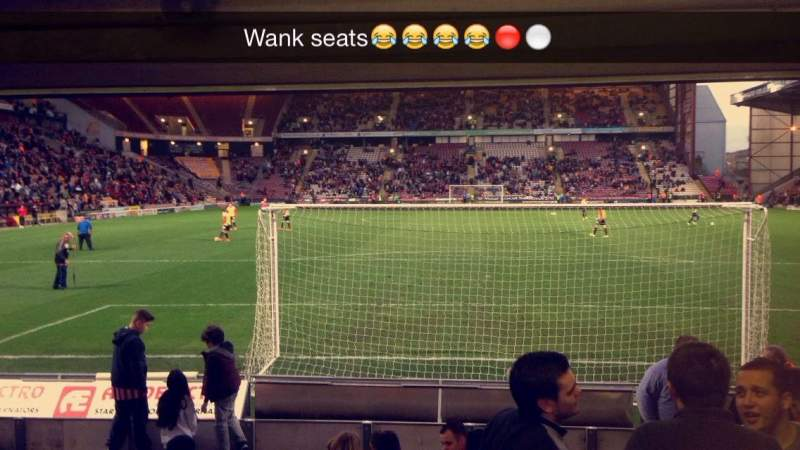 Seating view for Valley Parade Section LC Row L Seat 47