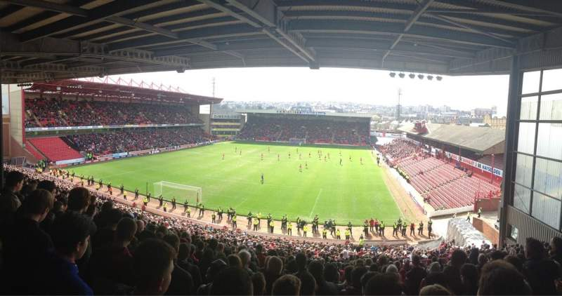 Seating view for Oakwell Stadium Section NS2 Row QQ