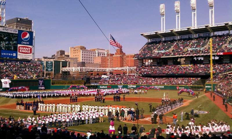 Seating view for Progressive Field Section 156 Row ff Seat 3