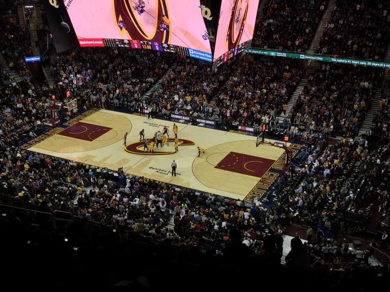 Seating view for Quicken Loans Arena Section 212 Row 17 Seat 16