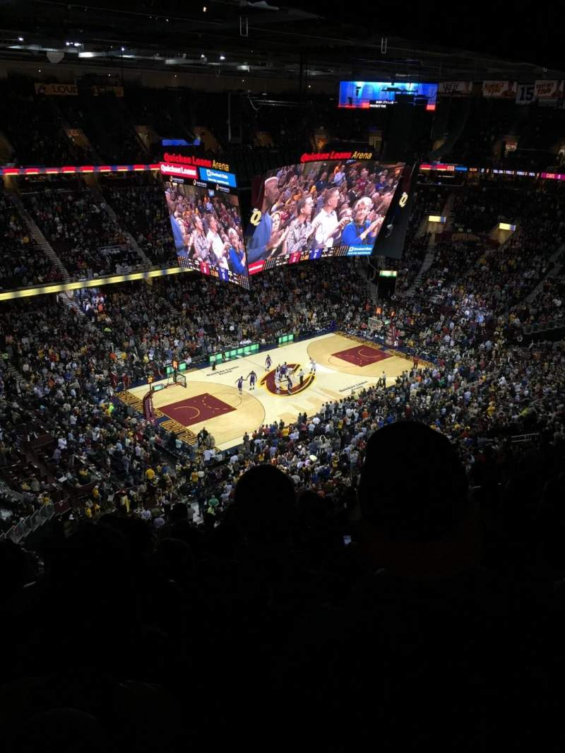 Seating view for Quicken Loans Arena Section 205 Row 13 Seat 18