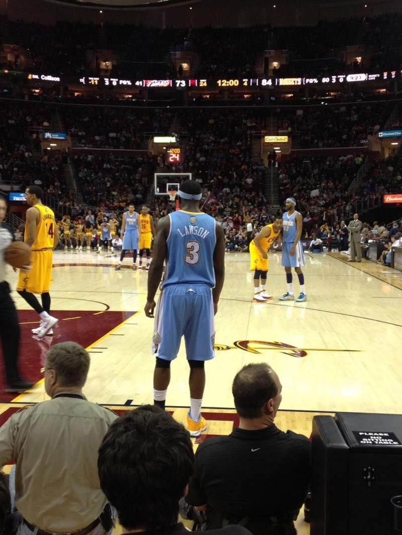 Seating view for Quicken Loans Arena Section 18 Row 1 Seat 8