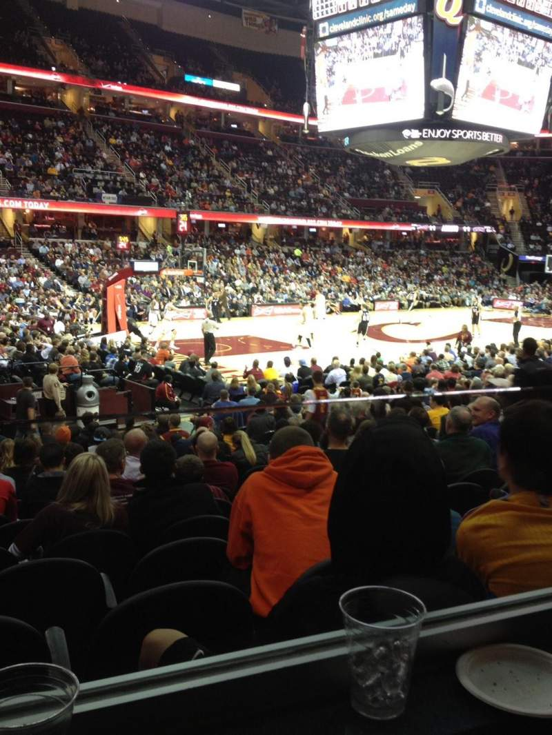 Seating view for Rocket Mortgage FieldHouse Section 123