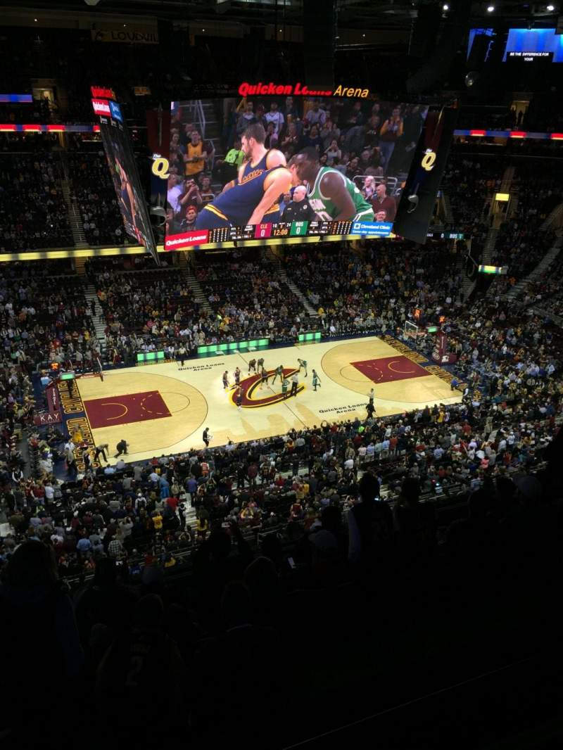 Seating view for Quicken Loans Arena Section 207 Row 7 Seat 2