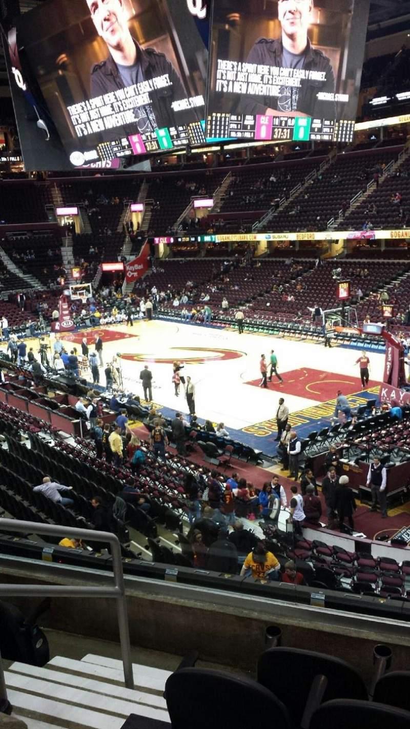 Seating view for Quicken Loans Arena Section 130 Row 19 Seat 1